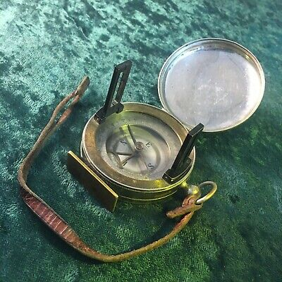 Antique Pocket Compass And Clinometer Compendium Made In France