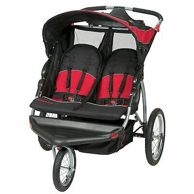 Baby Trend Expedition Lightweight Jogging Double Baby Stroller, Centennial