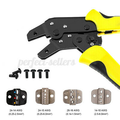 Terminal Crimper Cable Tube Plier Electrical Ratchet Tool Kit Set Crimping