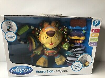 Playgro Rory Lion Baby Gift Pack 0+ Months Teething Ring Rattle Toy