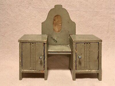 Antique Dollhouse VANITY-DRESSING TABLE with Mirror and Cabinets -Germany