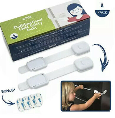 *💚*NIB Wittle Products Child Safety Cabinet Locks | Pack of 8~Child Proofing💚