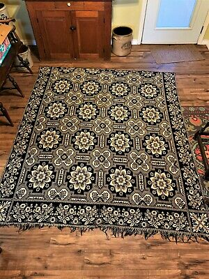 19th Century Jacquard Coverlet dated 1850