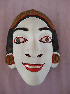 Hand Carved Topeng Bali Mask Indonesia Wall Tribal dance wood