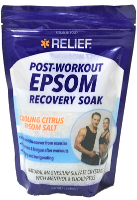 Dr Teal/'s Pure Epsom Salt Muscle Recovery Soak Whole Body Relief 2 lb Bag