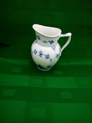 Royal Copenhagen Blue Fluted Plain Cream Pitcher Jug Antique Quality