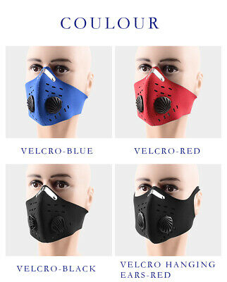 Anti-droplets 2 Filter Cycling Air Purifying Mouth-muffle Face Shield Fog