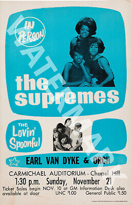 The Supremes The Crystals 1964 Dixie Cups Vintage Concert Poster
