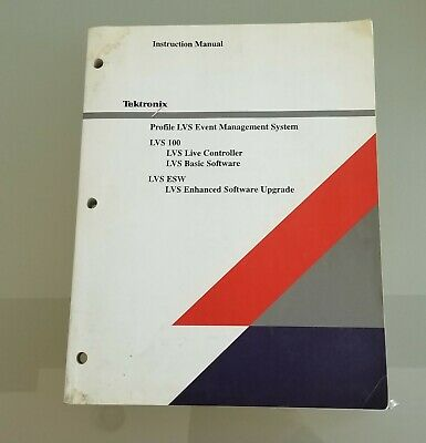 Tektronix Profile Event Management System Live Controller LVS 100 Instructions