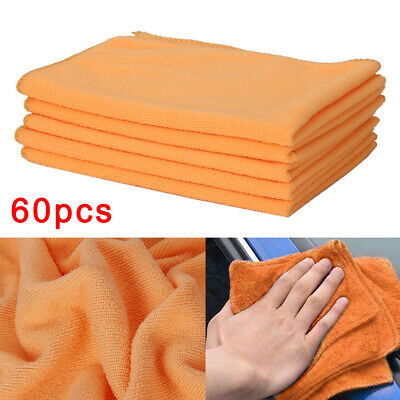 60xDetailing Cleaning Car Soft Cloths Large Microfibre Ultra Absorbant ange New