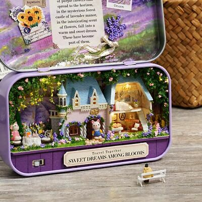 DIY Handcraft Miniature Project Kit Dolls House The Tin Box Theatre Series Toy