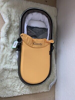 Icandy Peach Honeycomb Carrycot Space Grey Frame Brand New In Box