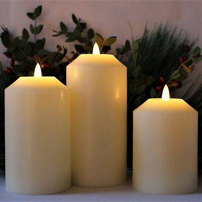 NEW Flameless LED Candle Battery Electric 3D Light Flicker Electric Fake Timer