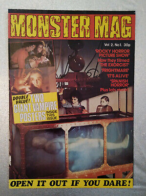 MONSTER MAG Vol 2 No. 1 Rocky Horror Exorcist Vampire Poster Excellent Cond.