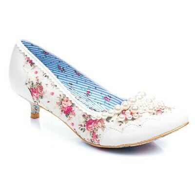 IRREGULAR CHOICE 'PEARLY Girly Low' (E) Low Stiletto Heel