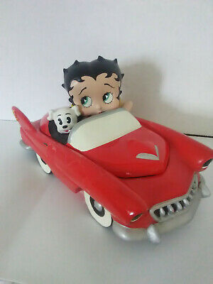 Vintage Limited Edition Betty Boop & Pudgy Car Ceramic Box Numbered Hand Painted