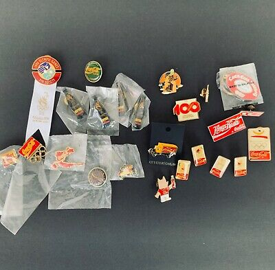 (24) rare assorted Coca-Cola coke  pins buttons Employee issued