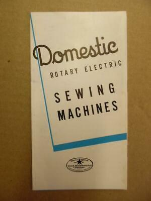 c.1939 White Sewing Machine Catalog Brochure Series 71 73 Rotary Electric Models