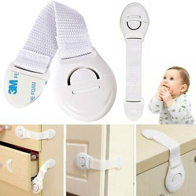 Child Kids Baby Safety Lock Proof For Door Drawers Cupboard Cabinet White New
