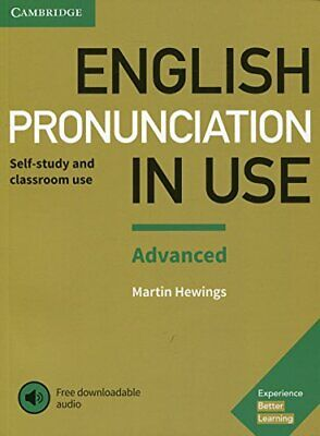 English Pronunciation in Use Advanced Book with Answers and D New Paperback Book