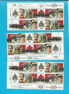 1998 MNH CANADA ROYAL CANADIAN MOUNTED POLICE SG,1806-1807 - THREE BLOCKS - ca20