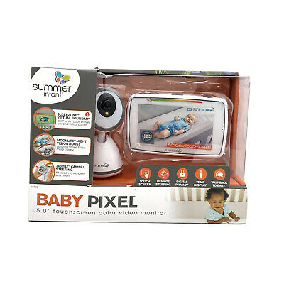 Summer Infant Baby Pixel Video Baby Monitor with 5-inch Touchscreen Damaged Box