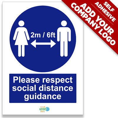 Please Respect Social Distance Guidance Stop Spread Virus Prevent Infection SIGN