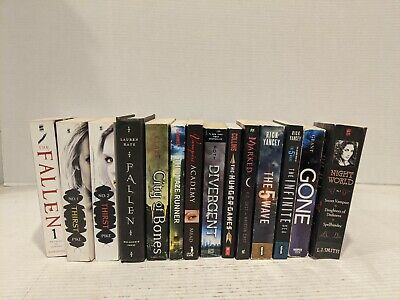 14 Young Adult Book Lot Maze Runner Hunger Games Divergent Fallen thirst & more