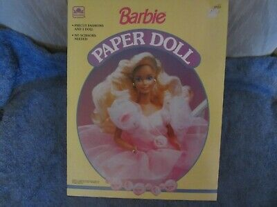 uncut  1990 barbie paper doll