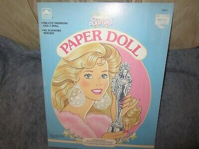 uncut  superstar barbie paper dolls