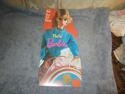 uncut  1972 pos n barbie paper doll fashions