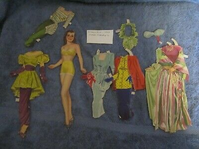 1947 dream girl paper doll and  fashions