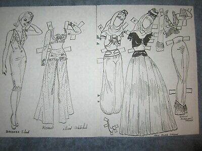 uncut barbara eden paper doll and  fashions