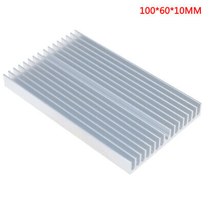 2 Pack 16 Fins DIY Aluminum Heatsink Module Cooler Chip Radiator for High Power Led Light High Power Amplifier Transistor Semiconductor Devices 1006010mm