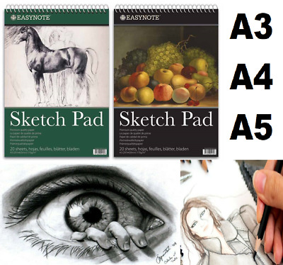 Sketch Pad A4 A3 A5 Book White Paper Artist Sketching Drawing Doodling Art Craft