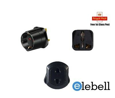 CN CANADA EU AU US IN to UK Travel Adapter  To British Power Plug