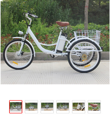 50 w motor electric 6 speed Adult Tricycle bike used for cargo transportation/E