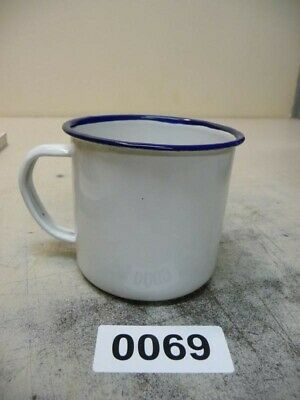 0069. Alte Emaille Email Tasse Becher Enamel cup