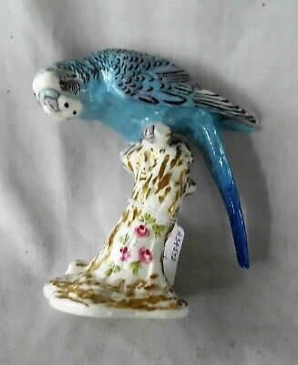 Royal Worcester Porcelain Bird - 'Budgerigar #2664 - Blue