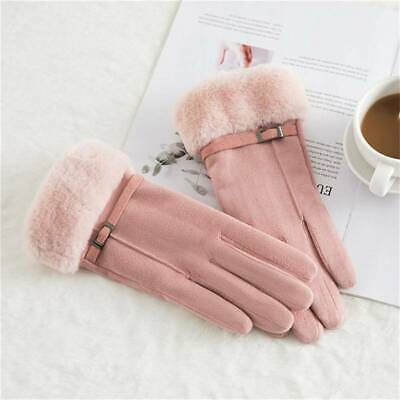 Glove Warm Suede Gloves Gloves Female Touch Screen Fashionable Solid Winter N3