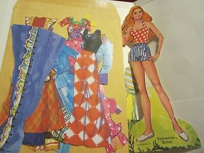 cutout 1973 yellowstone kelley paper doll and  fashions