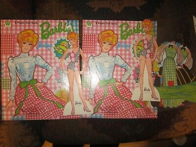 cutout 1973 lot of 2 barbie paper doll and  fashions