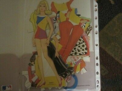 cutout 1971 barbie paper doll and  fashions