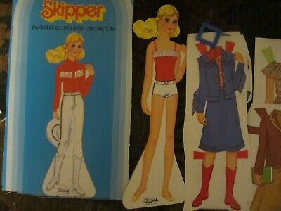1983 skipper  paper doll and  fashions