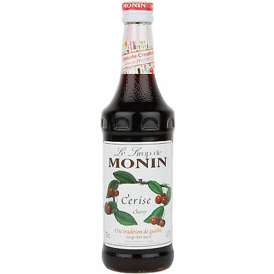 Monin Natural Cherry Syrup - Set of 6 - Syrup for Flavouring Drinks