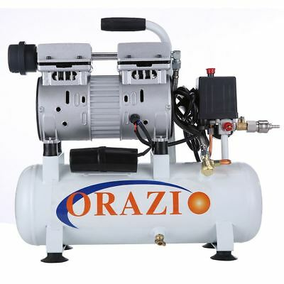 ORAZIO Low Noise 66db  Silent Air compressor 9L Clinic Garage Tool