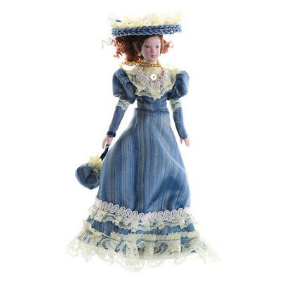DOLLHOUSE MINIATURE VICTORIAN STYLE PORCELAIN MAN or FATHER DOLL 1:12 POSABLE