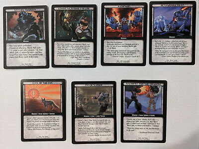 Limited Base Set Battletech CCG TCG Card Game 8x RARE Command Subterfuge Cards