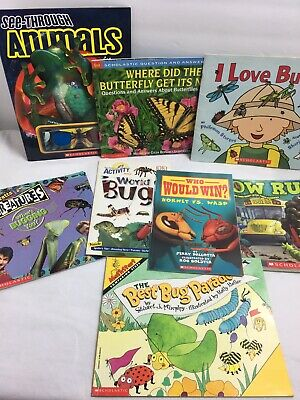 BUG/INSECT Books for Children Lot Of 8 Homeschool Science Butterflies Bugs Wasp