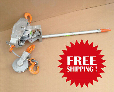'Lincoln Hoist' 6000 lb ratchet winch - double cable (LH6000-15) - FREE SHIPPING